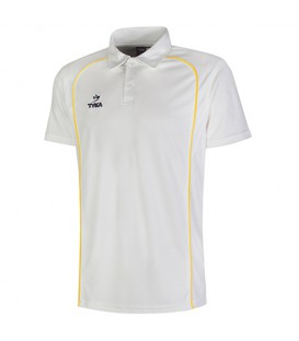 Club Shirt Short Sleeves - Golden Yellow Piping