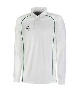Club Shirt Long Sleeves - Green Piping